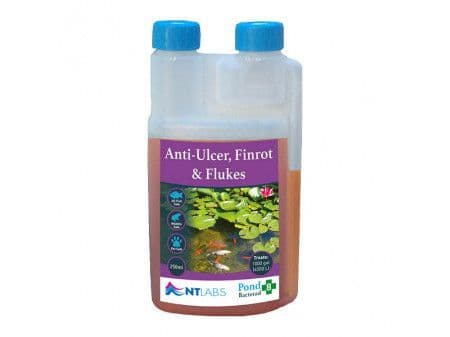 NTLabs Pond Anti-Ulcer, Fin-Rot & Flukes (Bacterad)