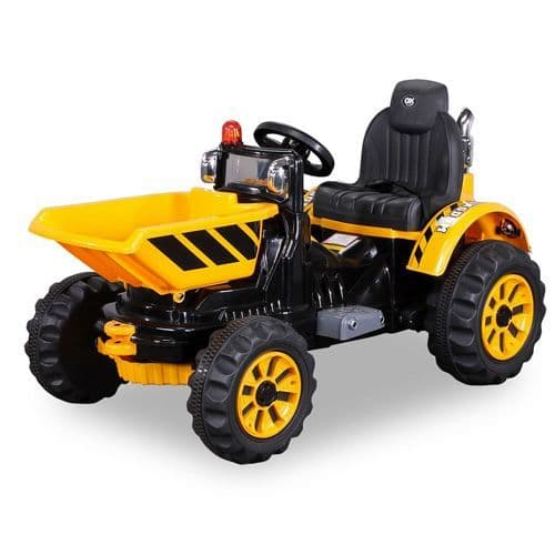 12v Battery-Powered Ride On Dumper Truck Tractor With Tipping Bucket
