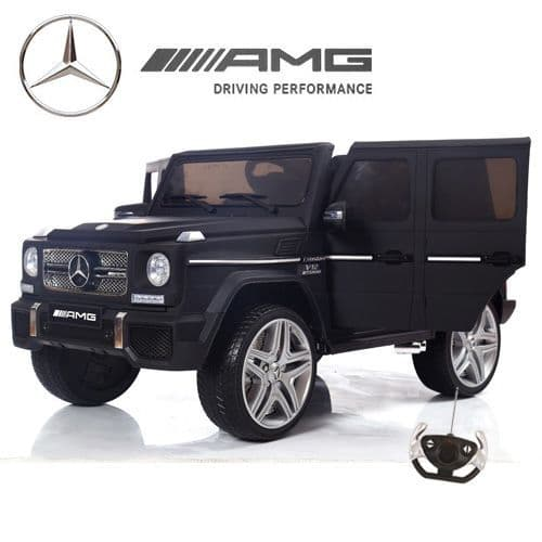 12v Gloss Black G65 Mercedes Childs Ride On Jeep with Leather Seat
