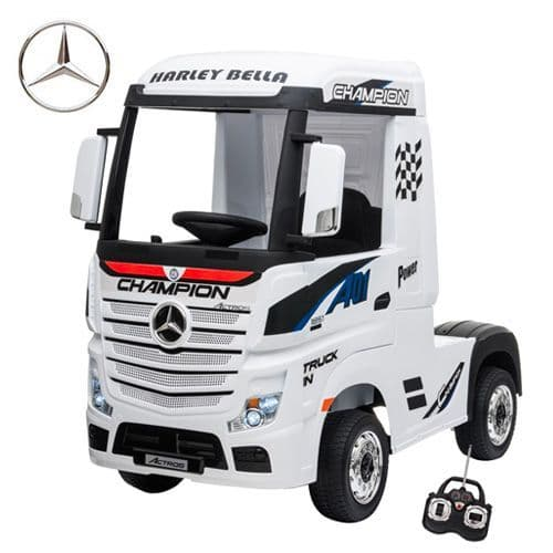 12v Licensed Mercedes Arctic Lorry Truck Ride-in Cab & Remote