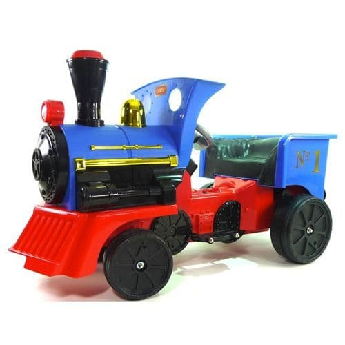 12v Motorized Battery Powered Train Super Fun Childs Sit on Blue