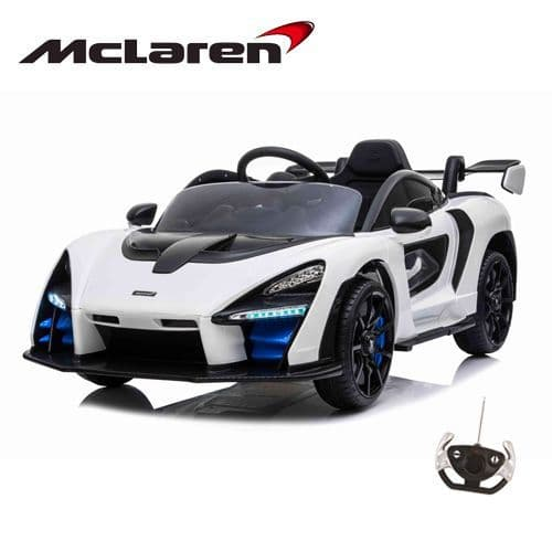 12V Official McLaren Senna F1 Ride On Car White with Remote
