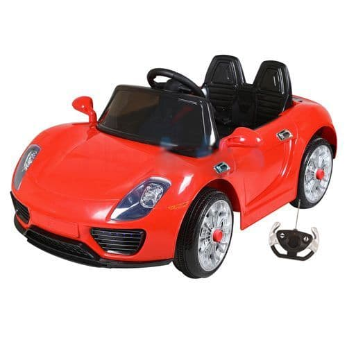 12v Red Porsche 918 Supercar Style Childs Ride On Car