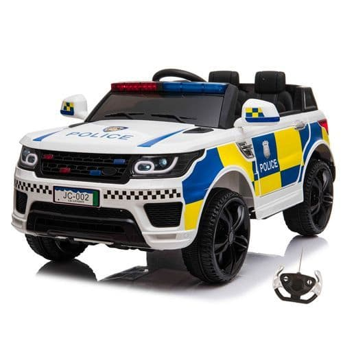 12v UK Police Car 2 Seat Sit in Ride On with Lights & Sounds