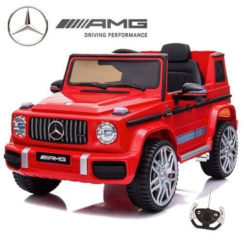 2021 Childs 12v Red Official Mercedes G63 Ride On SUV Jeep