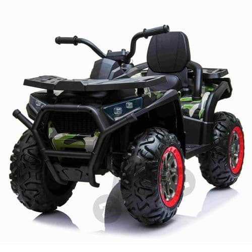 24v Childs Army ATV Tracker Sit On Battery Powered Battery-Powered Quad