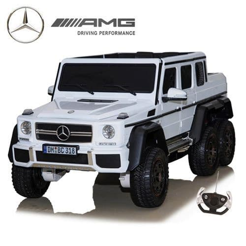 24v Official White 6x6 Mercedes Childs Ride On SUV with Remote