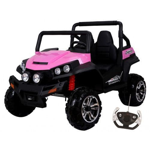 24v Pink 2 Seat 2WD Girls Large Off Road Childs Ride On Jeep