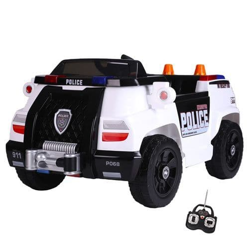 6v Childs Compact Police Ride On Car with Parental Remote