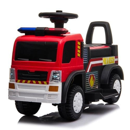6v Sit-On Fire Brigade Engine With Working Lights & MP3