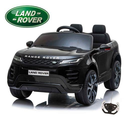 Black 12V Official 2 Seat Range Rover Evoque Compact Ride On Car