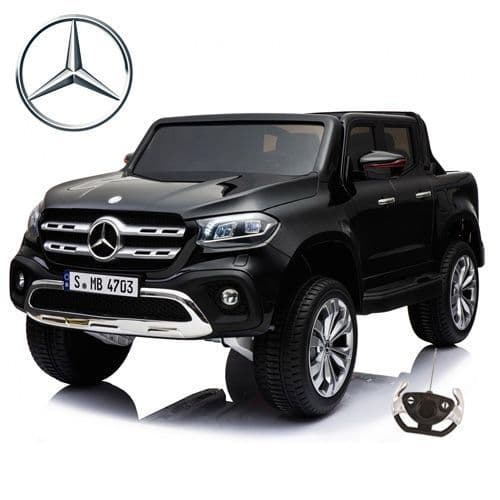Black Licensed 4WD Mercedes X-Class 24v Childs Battery-Powered Pick Up