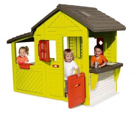 Kids garden playhouse with barbecue and doorbell