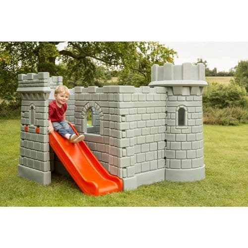 Medieval Playhouse with Lookout Tower and Slide