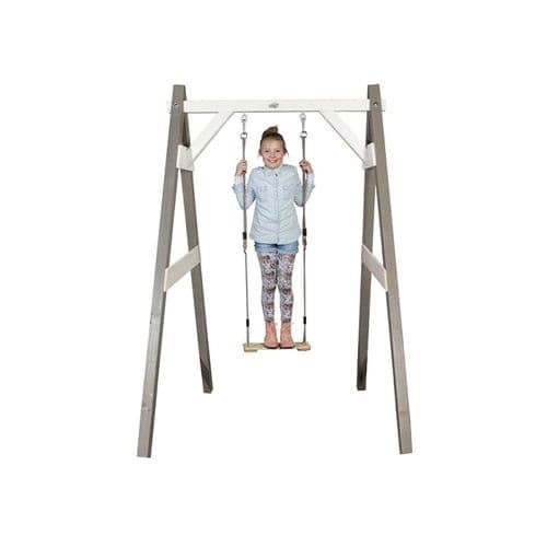 Norfolk Grey/White Painted Wooden Single Swing Set