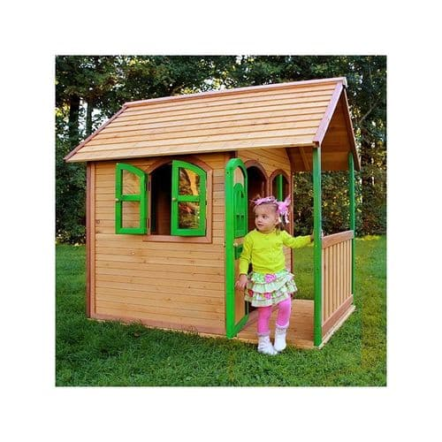 Orford Playhouse - Wooden Kids Wendy House with Porch and Porthole