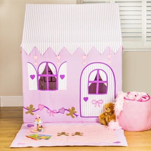 Personalised Gingerbread Cottage and Sweet Shop Fabric Playhouse