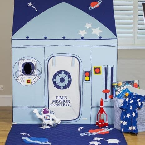 Personalised Outer Space Rocket Ship Fabric Playhouse