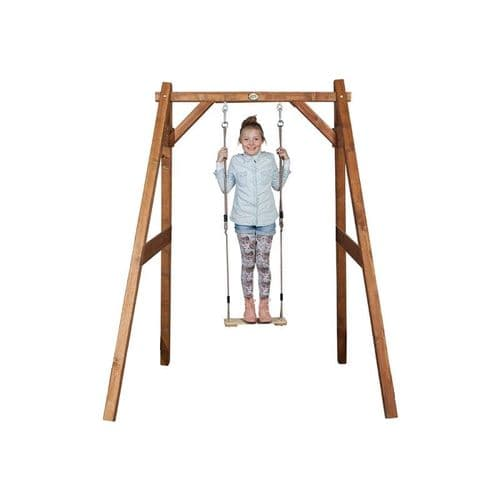 Suffolk Natural Wooden Kids Single Swing Set