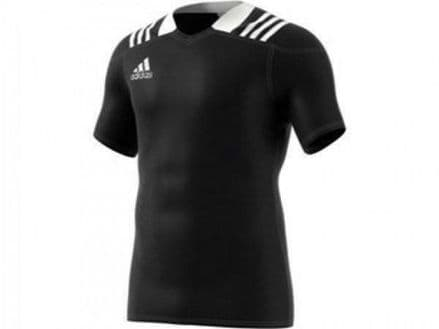 Adidas 3S Rugby Jersey Black Shirt - BS3191
