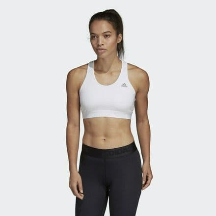 Adidas Alphaskin Sports White Fitness Bra