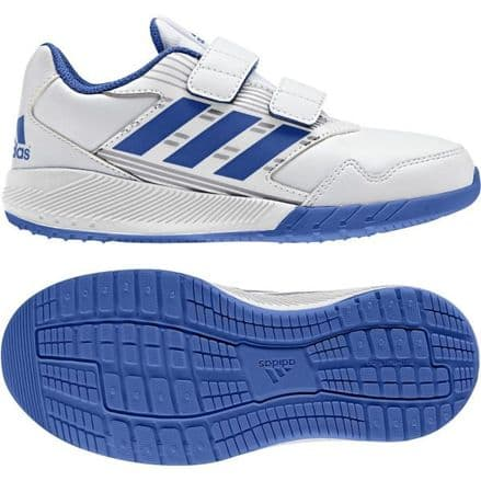 Adidas Running AltaRun Juniors Kids Trainers Shoes White/Blue - BA9417