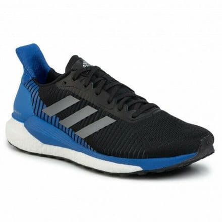 Adidas Running Shoes Solar Glide St 19 Mens Black Blue - F34098
