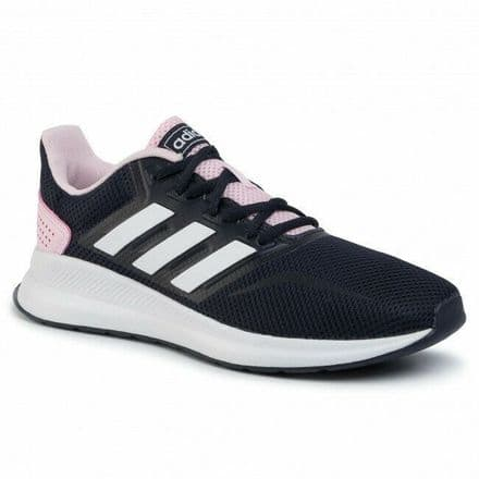 Adidas Running Shoes Womens Run Falcon Trainers Ink/Pink - EF0152