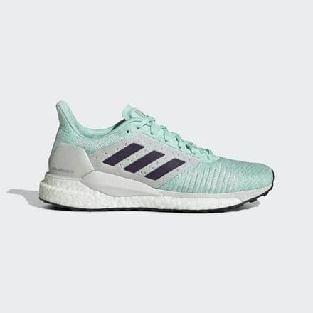 Adidas Running Solar Glide ST Womens Shoes Trainers - White/Mint - B96308