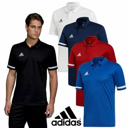 Adidas Team Wear Boys T19 Sports Polo Shirt Top - Gym Training