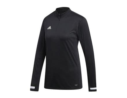 Adidas Team Wear Jacket Womens T19 1/4 Zip Long Sleeve Black - DW6851