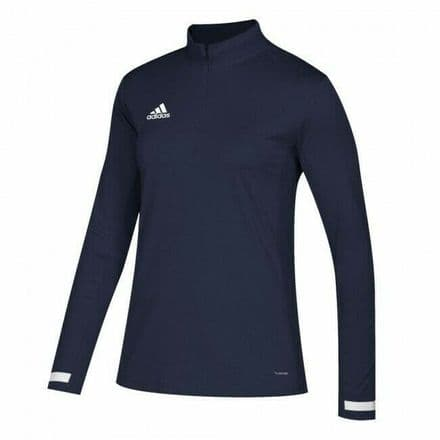 Adidas Team Wear Jacket Womens T19 1/4 Zip Long Sleeve Navy - DY8841