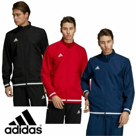 Adidas Team Wear Mens T19 Sports Woven Track Jacket - Gym Training