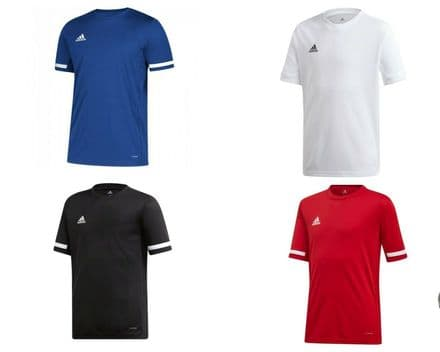 Adidas Team Wear T Shirt Youth T19 Jersey Short Sleeve Top - Gym Training
