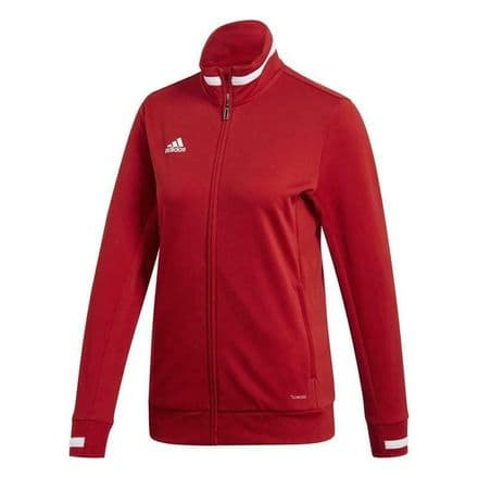 Adidas Team Wear Track Jacket Womens T19 Sports Red - DX7326