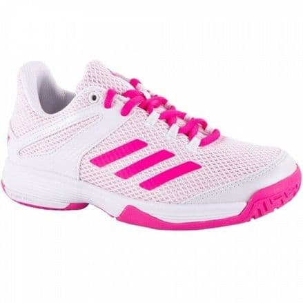 Adidas Tennis adiZero Club Juniors White/Pink Shoes - Trainers- BB7940