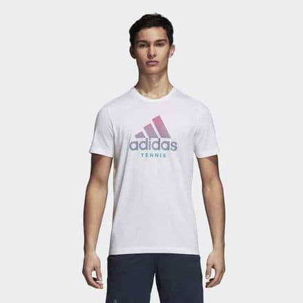 Adidas Tennis Category TShirt Mens - White - DJ1722
