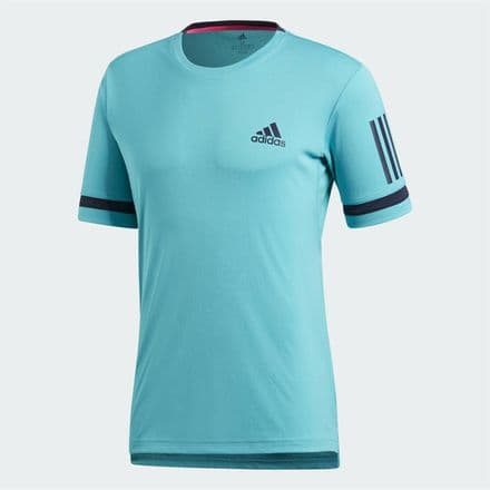 Adidas Tennis Club 3 Stripes Blue TShirt - D93023