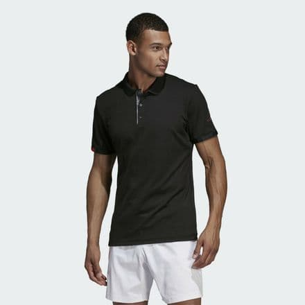 Adidas Tennis Match Code Polo Shirt Black - DT4407