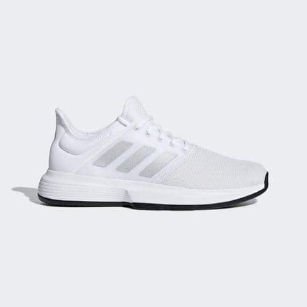 Adidas Tennis Mens Game Court White Shoes Trainers - CG6333