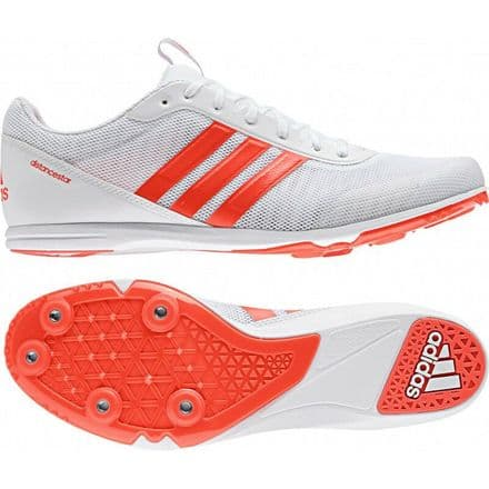 Adidas Track & Field Distancestar White/Red Shoes Trainers - BB5753