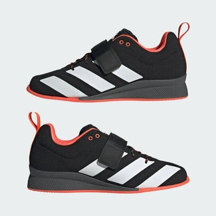 Adidas Weightlifting Adipower II Shoes  Black White Red Lifting Gym