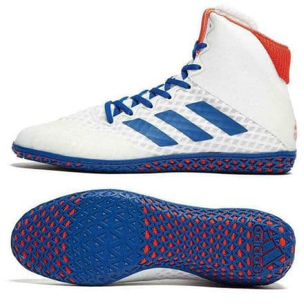 Adidas Wrestling Boots - Mat Wizard 4 White Blue Red