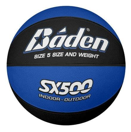 Baden SX500 Indoor/Outdoor Basketball - Size 5 - Blue/Black