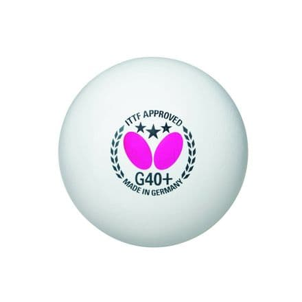 Butterfly 3 Star G40+ Plastic Table Tennis Balls - Pack of 72