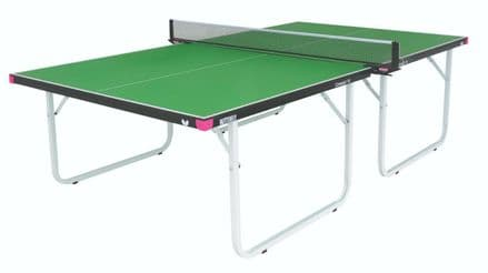 Butterfly Compact Indoor 19 Wheelaway Table Tennis Table - Green