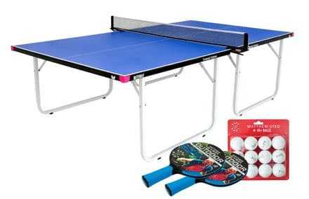Butterfly Compact Outdoor Table Tennis Table -Blue- including cover, bats&balls