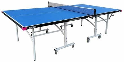 Butterfly Easifold Outdoor Table Tennis Table -Blue- including cover, bats&balls