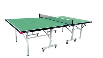 Butterfly Easifold Outdoor Table Tennis Table -Green- including cover,bats&balls