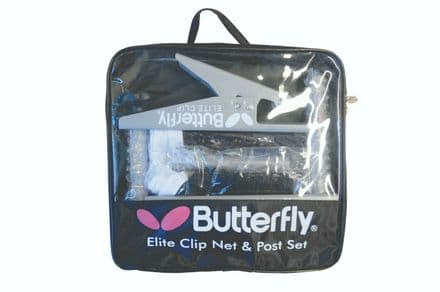 Butterfly Elite Clip Table Tennis Net and Post Set in Carrying Bag